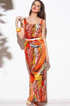 Длинное летнее платье на бретелях Angela Ricci