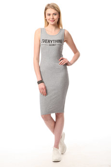 Трикотажное платье майка TOM FARR со скидкой