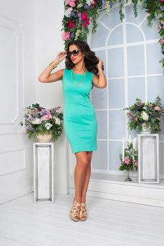 Летнее платье футляр без рукавов Angela Ricci со скидкой