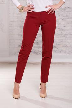Женские бордовые брюки Angela Ricci со скидкой