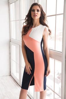 Элегантное платье футляр с разрезом впереди Angela Ricci