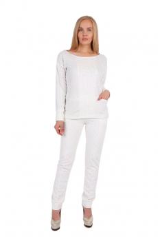 Белый костюм с блестками Милана