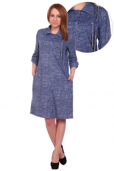 Синее повседневное платье ElenaTex